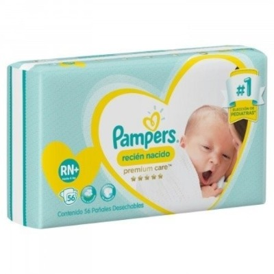 Pañal Pampers Premium Care Recien Nacido Hasta 4kg.  X56