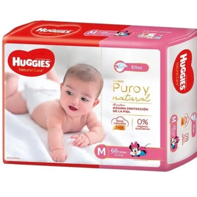 Pañal Huggies Natural Care Mx68