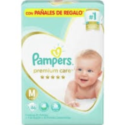 Pañal Pumpers Premium Care Familiar Mx86