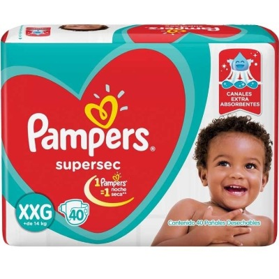 Pañal Pampers Supersec Familiar Xgx58
