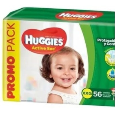 Pañal Huggies Active Sec Familiar Xgx58